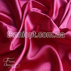 Ткань Стрейч тафта атлас (малиновый)