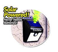 Светильник на солнечной батареи c датчиком движения  уличный EverBrite