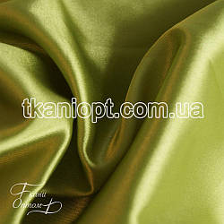 Ткань Стрейчевый атлас тонкий (оливка)