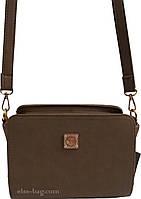 Маленькая каркасная женская сумка через плечо
