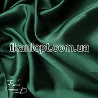 Ткань Стрейчевый атлас тонкий (изумруд)