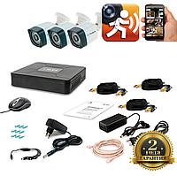 AHD Комплект видеонаблюдения для быстрой установки Tecsar 3OUT LIGHT