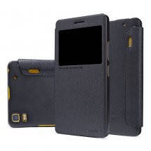 Кожаный чехол (книжка) Nillkin Sparkle Series для Lenovo A7000/K3 Note/K50T Черный