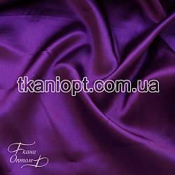 Ткань Стрейчевый атлас тонкий (фиолетовый)