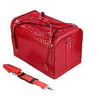 """Саквояж для косметики """"Maxi Case"""", красный лаковый"""