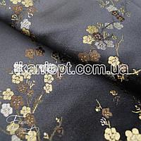 Ткань Ткань атлас с рисунком  (сакура)