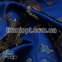 Ткань Ткань атлас с рисунком (драконы)