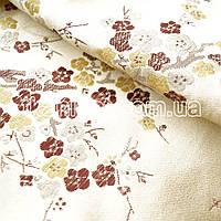 Ткань Ткань атлас с рисунком ( сакура )