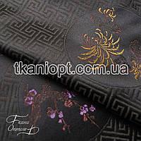 Ткань Ткань атлас с рисунком (цветы)
