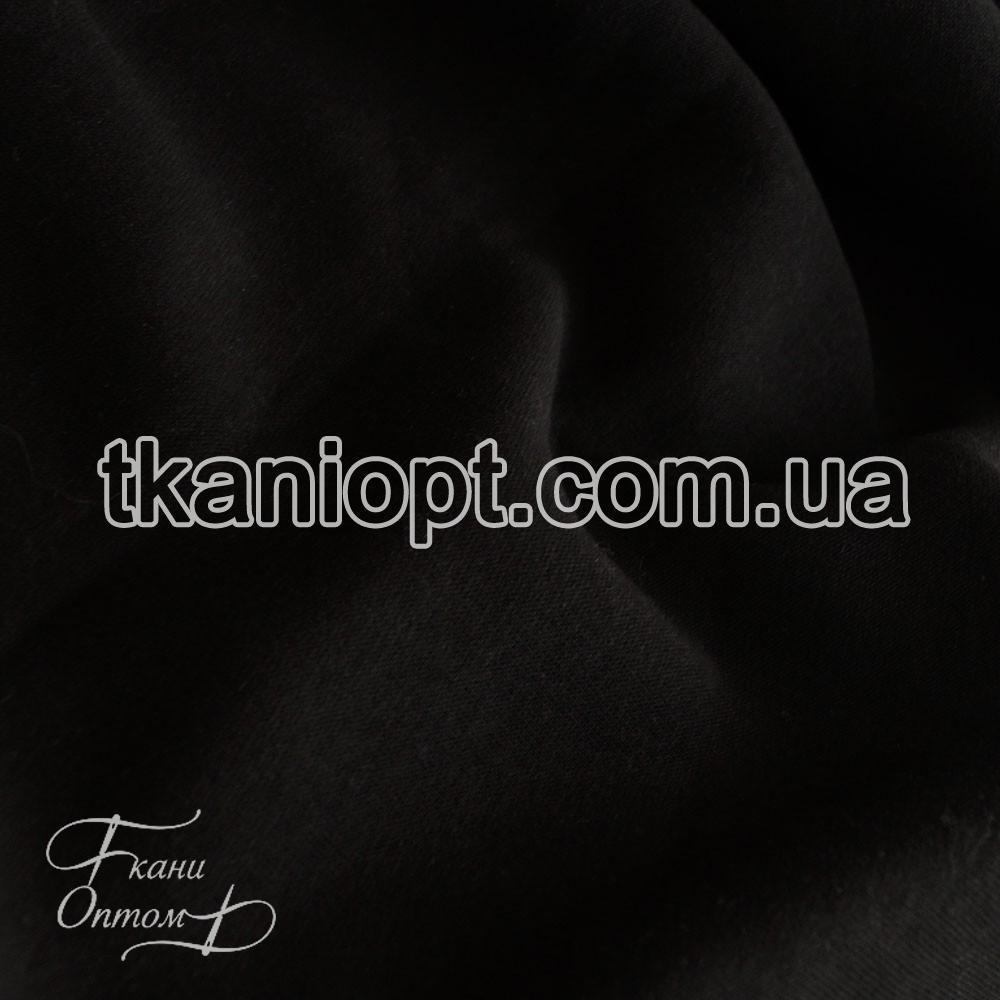 Ткань Трехнитка с начесом Турция (черная)