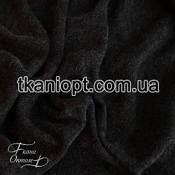 Ткань Трикотаж ангора (темно-серый меланж)
