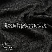 Ткань Трикотаж ангора джерси (темно-серый меланж)