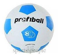 Мяч футбольный ProfiBall №5, гладкая резина