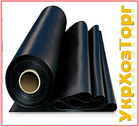 Пленка черная 200 мкм.(для мульчирования и строительства) 100 м в рулоне 1,5 м рукав 3 метра в разв.