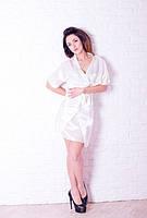 Сатиновый женский халатик и ночная рубашка
