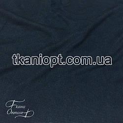 Ткань Трикотаж ангора тонкая (темно-синий)
