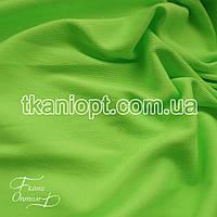 Ткань Трикотаж двунитка Турция (неон-салат)