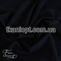 Ткань Трикотаж двунитка Турция (темно-синий)