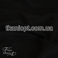 Ткань Трикотаж двунитка Турция (черный)