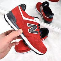 Кроссовки женские New Balance красные, спортивная обувь