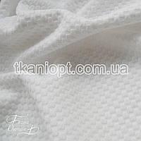Ткань Трикотаж кукуруза крупная (белый)
