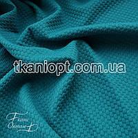 Ткань Трикотаж кукуруза крупная (бирюзовый)