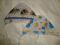 Чепчики для новорожденных ситцевые