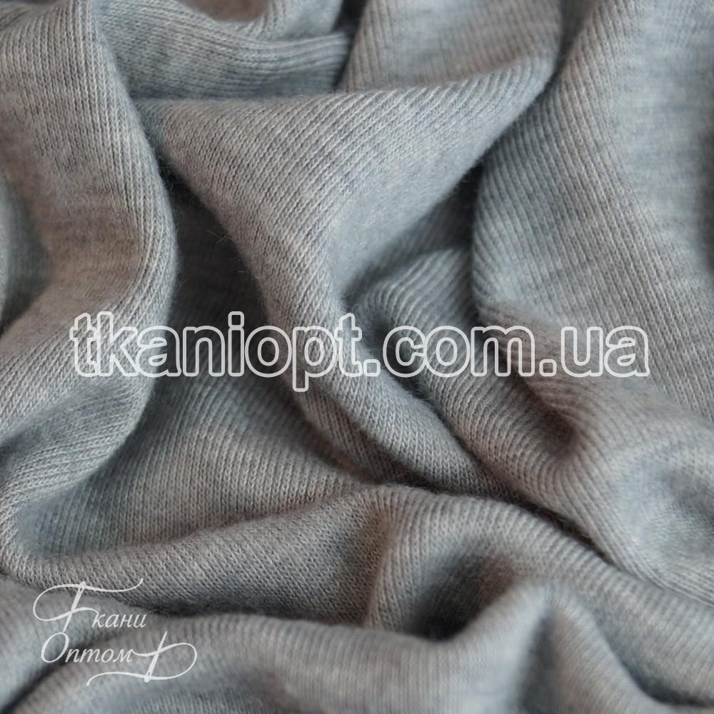 Ткань Трикотаж рибана (светло-серая)