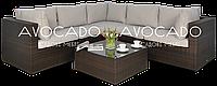 Комплект плетеной мебели из ротанга  PULA III  BRAUN  240х240см