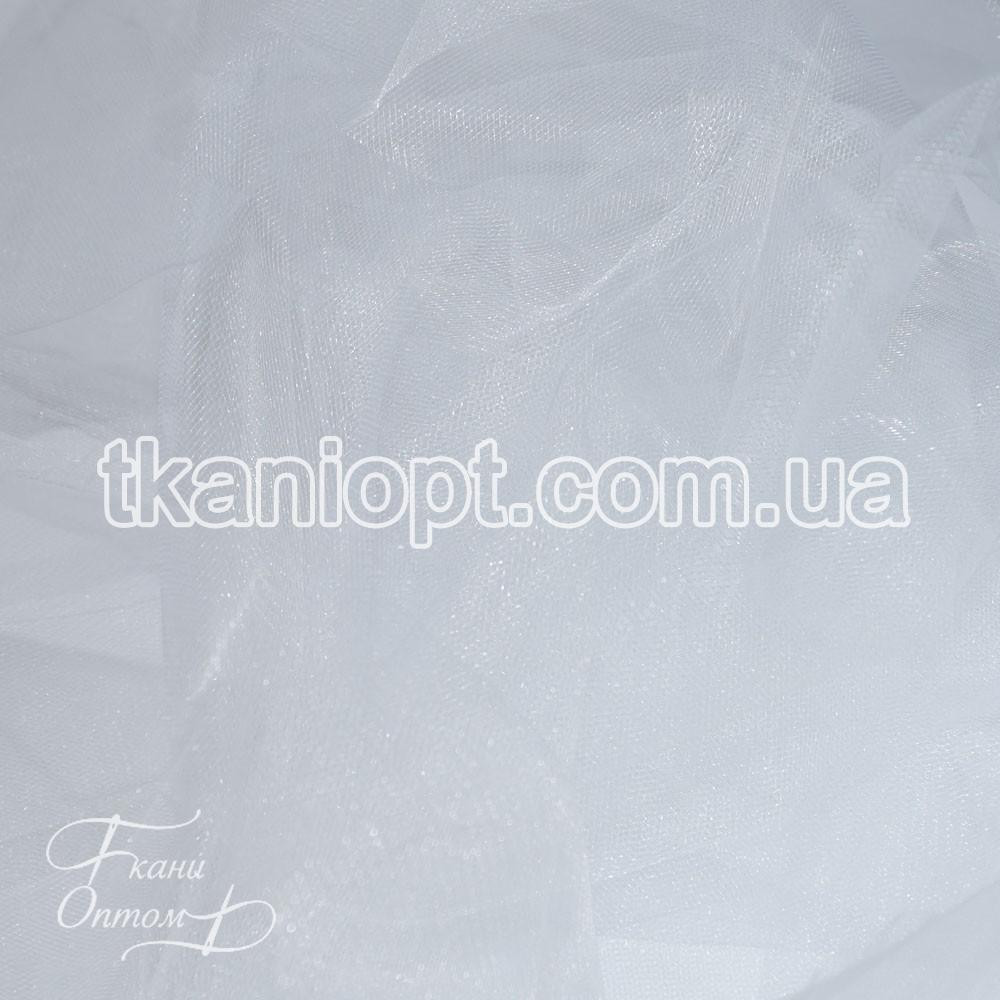 Ткань Фатин crystal трехметровый (белый)