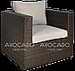 Комплект плетених меблів з ротангу PULA III крісло BRAUN 240х240см, фото 7
