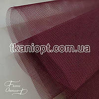 Ткань Фатин жесткий ( марсала )