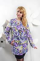 Кардиган весенний  из  ШанеЛь - Цветы  женский , новинка  модель в размерах 50, 52, 54, 56