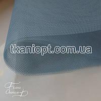 Ткань Фатин жесткий (серый-голубой)