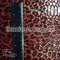 Ткань Замша обивочная рептилия (красный)