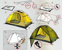 Как собрать и установить палатку?