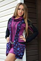 Теплое красивое платье-туника из французского трикотажа