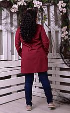Бордовая рубашка с аппликацией большая Прима роза, фото 3