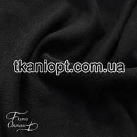 Ткань Футер трехнитка ( черный )