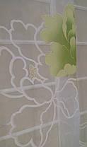 Тюль Цветы Зелёные, кристалон Devore, фото 3