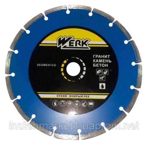 """Алмазный диск Werk Segment 1A1RSS/C3-W WE110100 (115x7x22.23 мм) в интернет-магазине """"Инстехмаркет"""""""