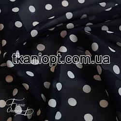 Ткань Шифон горох 7-8 мм (темно-синий)