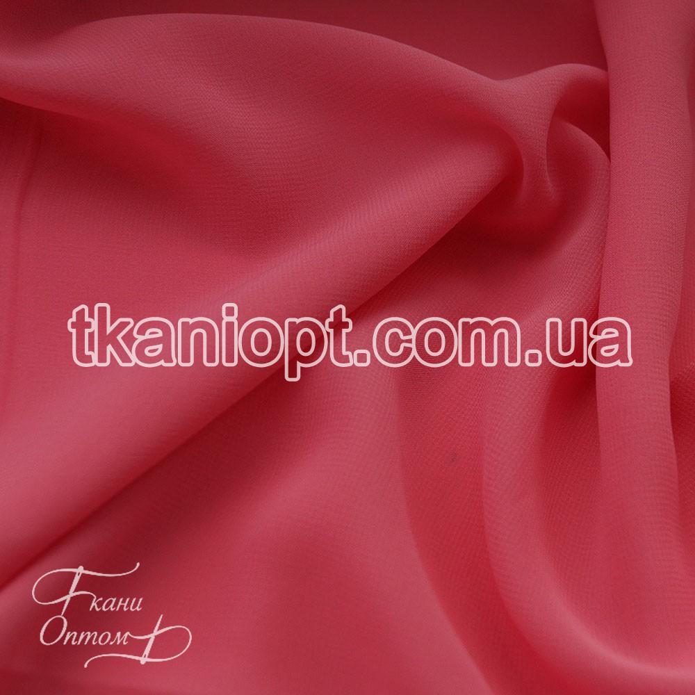 Ткань Шифон однотонный (розово-коралловый)