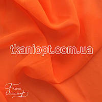 Ткань Шифон однотонный ( оранжевый неон )