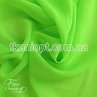 Ткань Шифон однотонный ( салатовый неон )