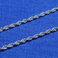 Серебряная цепочка-жгут Кордовая 50 см 901022040, фото 1