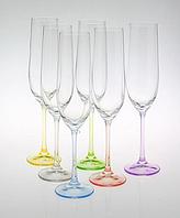 Bohemia Rainbow Набор бокалов для шампанского 190 мл 6 шт