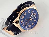Мужские часы в стиле Nardin - Le Locle на синем каучуковом ремешке, синий циферблат