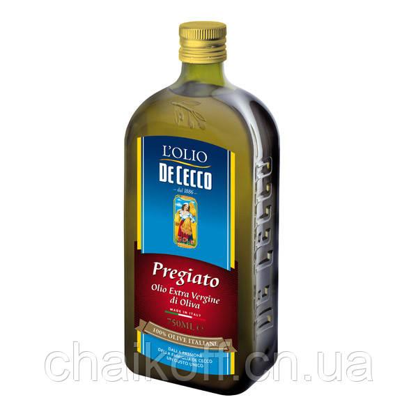 Масло оливковое De Cecco il pregiato extra vergine 750 мл