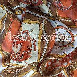 Ткань Шифон принт (Морские мотивы)